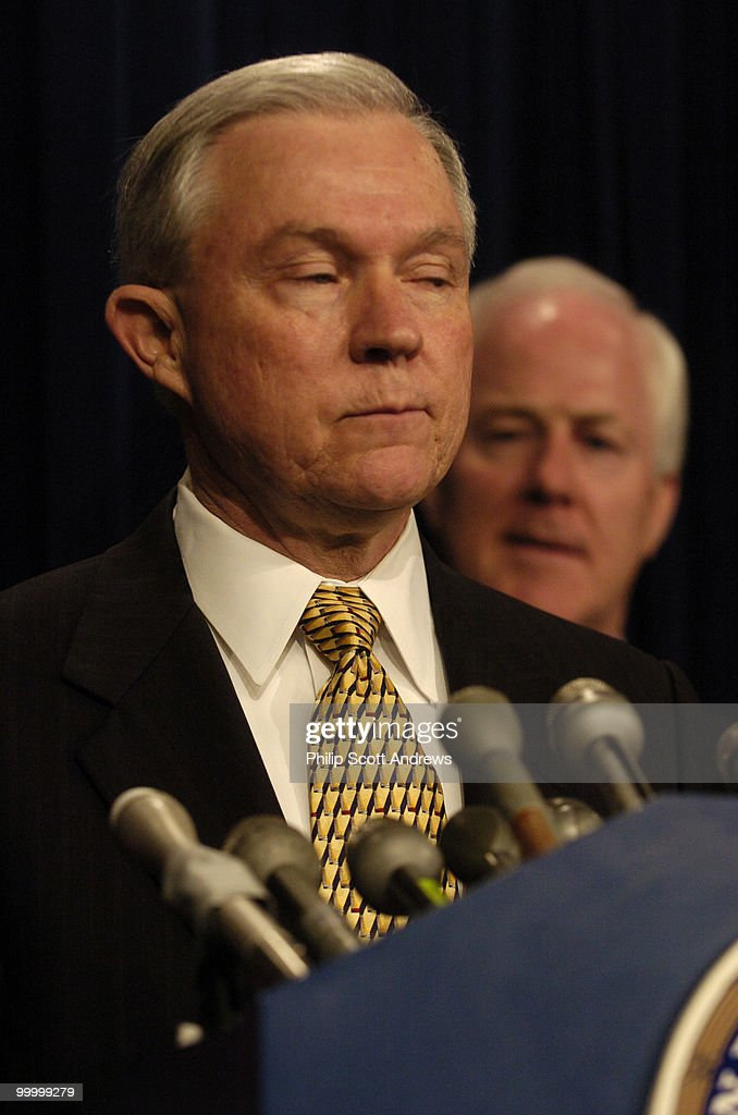 Senators Jeff Sessions, R-Ala, and John Cornyn, R-Tex hold a press conference to discuss the introduction of legislation that would the crack-powder cocaine sentencing disparity.