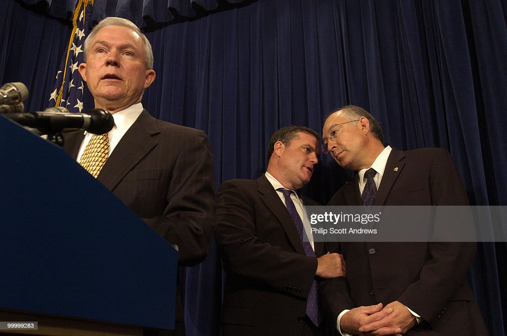 Senators Jeff Sessions, R-Ala, Mark Pryor, D-Ark, and Ken Salazar, D-Col, hold a press conference to discuss the introduction of legislation that would the crack-powder cocaine sentencing disparity.