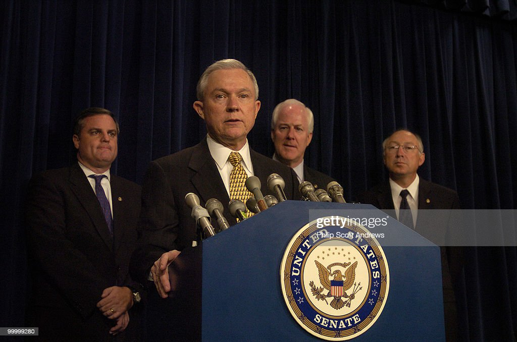 Senators Mark Pryor, D-Ark, Jeff Sessions, R-Ala, John Cornyn, R-Tex, and Ken Salazar, D-Col, hold a press conference to discuss the introduction of legislation that would the crack-powder cocaine sentencing disparity.