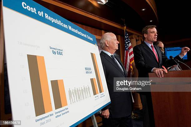 US Senators Mark Warner Ben Cardin Robert Casey and Amy Klobuchar held a press conference to issue a new report on the impact of the recent 16day...