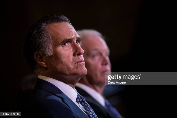 Senators Mitt Romney and Ron Johnson attend a a special Senate Committee on Homeland Security and Governmental affairs hearing on The State of...