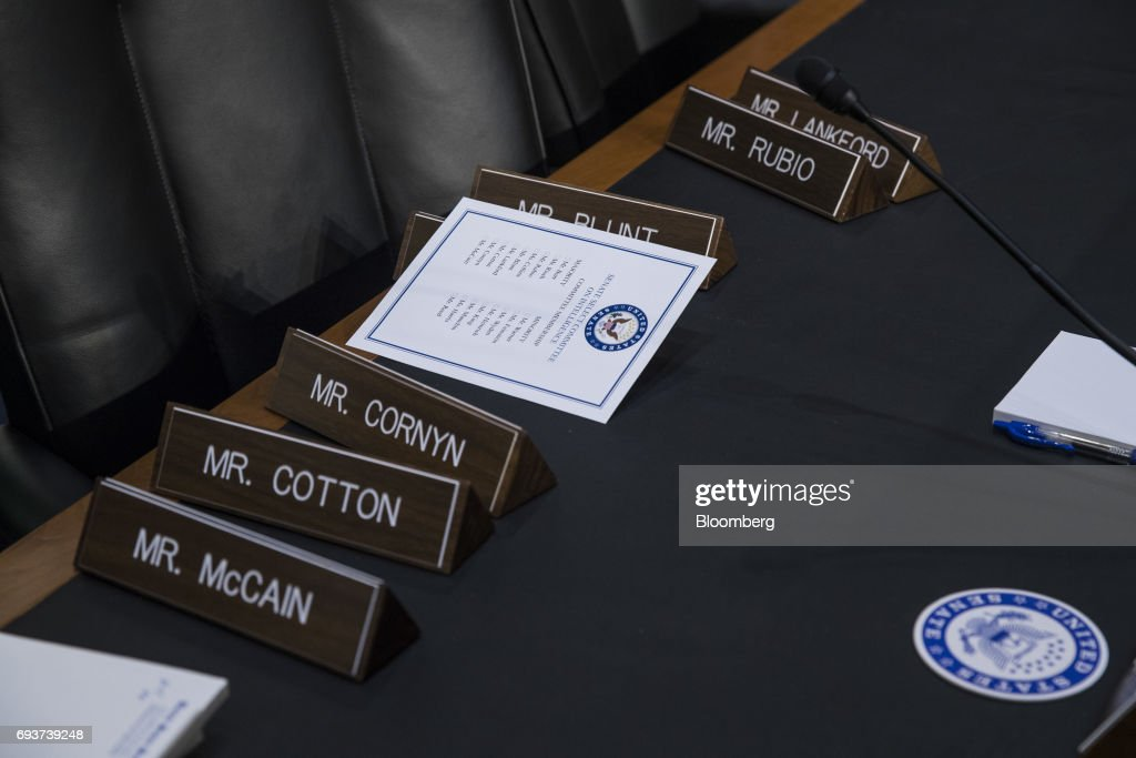 Former FBI Director James Comey Testifies Before Senate Intelligence Committee : News Photo