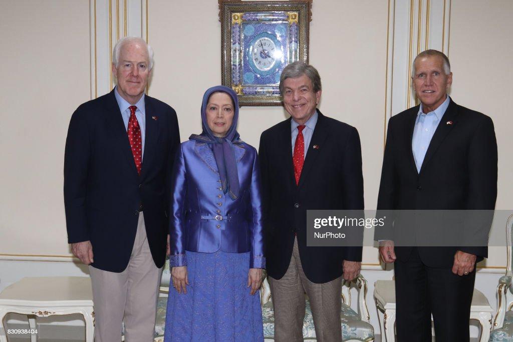 Senior U.S. Senate Delegation Meet Maryam Rajavi in Tirana