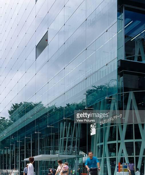 Sendai Mediatheque Sendai Japan Architect Toyo Ito Sendai Mediatheque Oblique View From Street