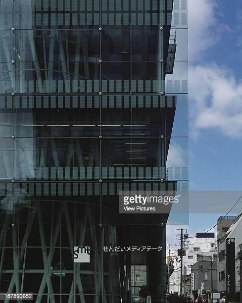 Sendai Mediatheque Sendai Japan Architect Toyo Ito Sendai Mediatheque Corner Detail Of Street Elevation