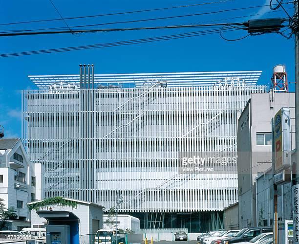 Sendai Mediatheque Sendai Japan Architect Toyo Ito Sendai Mediatheque West Elevation