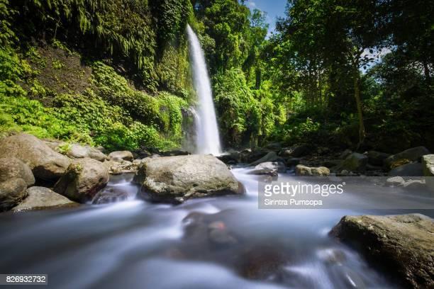 Sendang Gile and Tiu Kelep Waterfall near of the Volcano Rinjani, Lombok, Indonesia