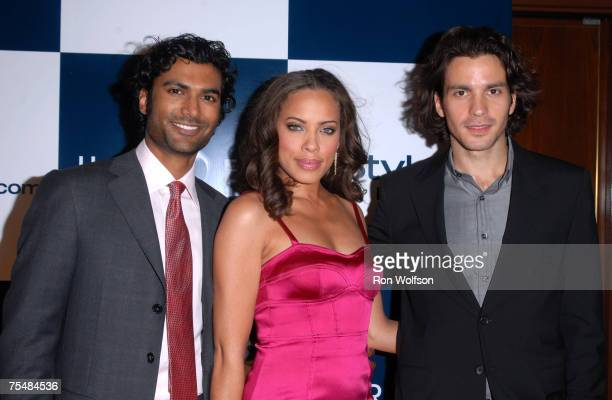 Sendhil Ramamurthy Tawny Cypress and Santiago Cabrera at the Sunset Tower Hotel in West Hollywood California
