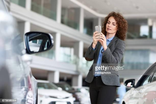 Sending photo message of car