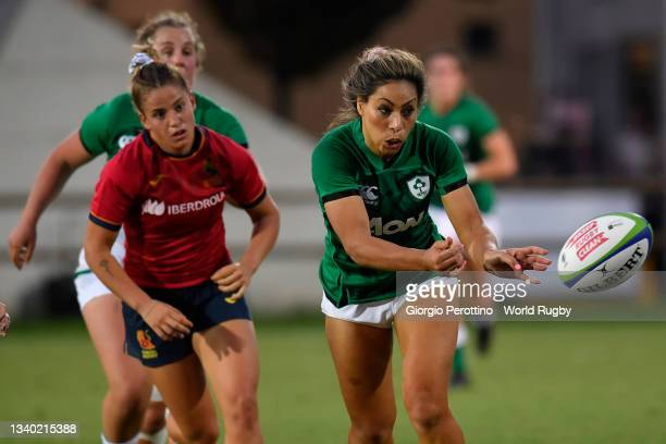 Sene Naoupu of Ireland runs with the ball during the Rugby World Cup 2021 Europe Qualifying match between Spain and Ireland at Stadio Sergio...