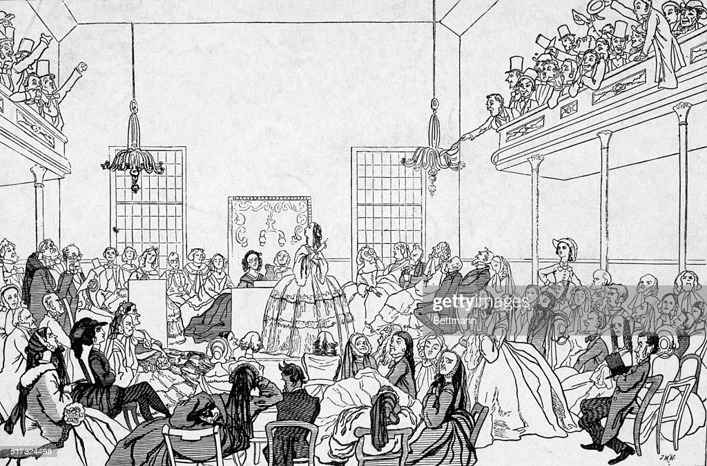 Illustration of First Women's Rights Convention in 1848 : News Photo