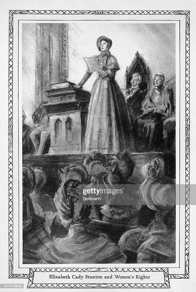 Elizabeth Cady Stanton Speaks at Convention : News Photo