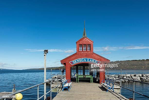 Seneca Lake boathouse.