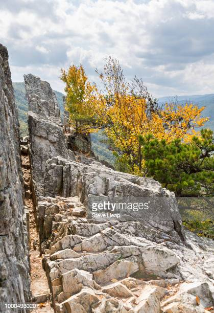 seneca rocks in west virginia - protohistory_of_west_virginia stock pictures, royalty-free photos & images