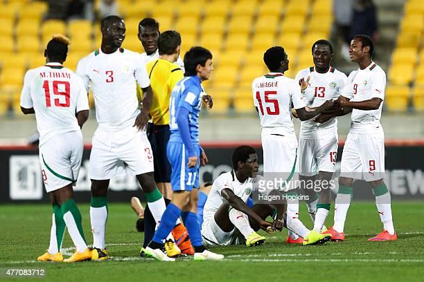 Senegal celebrate the win during the FIFA U20 World Cup New Zealand 2015 quarterfinal match between Senegal and Uzbekistan at Wellington Regional...