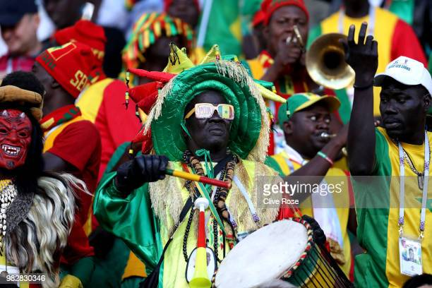 Senegal fans during the 2018 FIFA World Cup Russia group H match between Japan and Senegal at Ekaterinburg Arena on June 24 2018 in Yekaterinburg...