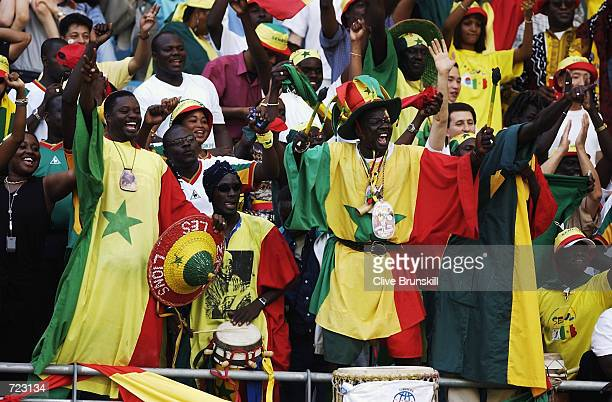 Senegal fans inside the stadium before the Group A match against Denmark of the World Cup Group Stage played at the Daegu World Cup Stadium Daegu...
