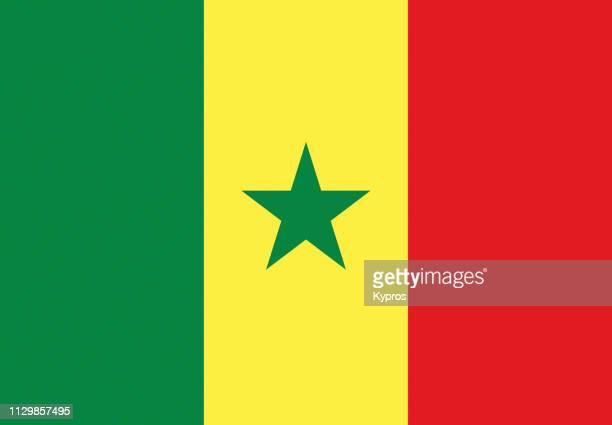 senegal flag - senegal stock pictures, royalty-free photos & images