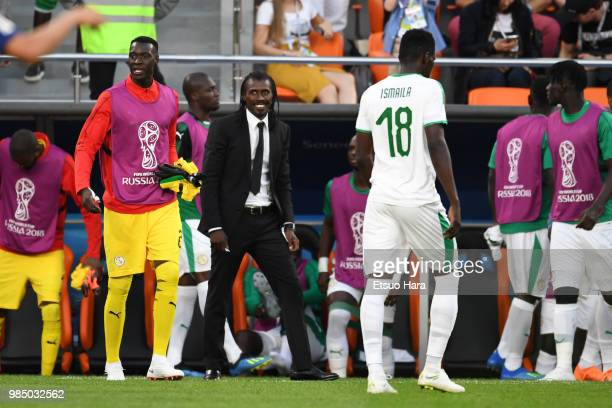 Senegal head coach Aliou Cisse is seen during the 2018 FIFA World Cup Russia group H match between Japan and Senegal at Ekaterinburg Arena on June 24...