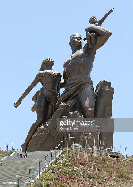 DAKAR Senegal Photo taken in May 2011 shows the 52meter tall statue called the African renaissance monument in Dakar western Africa The monument...