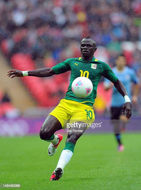 Senegal player Sadio Mane in action during the Men's Football first round Group A Match between Senegal and Uruguay on Day 2 of the London 2012...