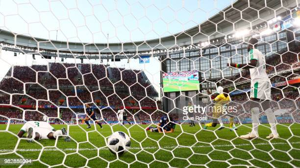 Senegal players react following Japan's second goal during the 2018 FIFA World Cup Russia group H match between Japan and Senegal at Ekaterinburg...