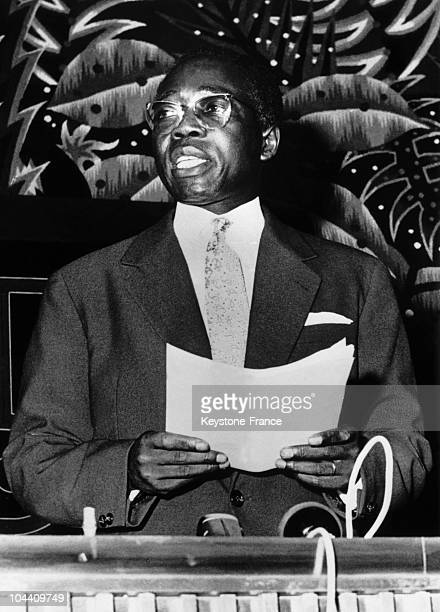 Senegal President Leopold Sedar SENGHOR during a speech given on the 20th of June 1960 for Mali independence.