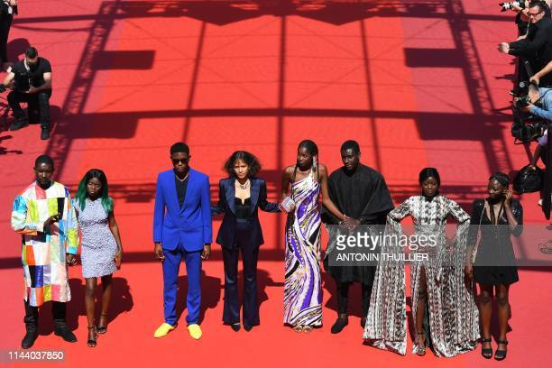 Senegalese actor Ibrahima MBaye Senegalese actress Aminata Kane Senegalese actor Ibrahima Traore French director Mati Diop Senegalese actress Mama...