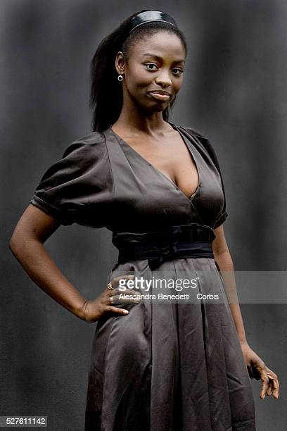 "Senegalese actress Aissa Maiga at the photo call of ""Bianco e Nero"" in Rome."