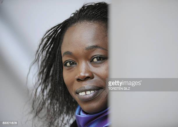 Senegalese author Fatou Diome poses for a photo at the Frankfurt Book Fair on October 17 2008 The world's biggest book fair is showcasing Turkey this...