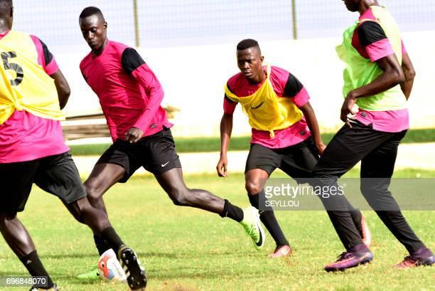 Senegalese player Ibrahima Niane trains at the Generation Foot Academie on June 14 2017 in Deni Biram Ndao eastern Dakar Generation Foot began life...
