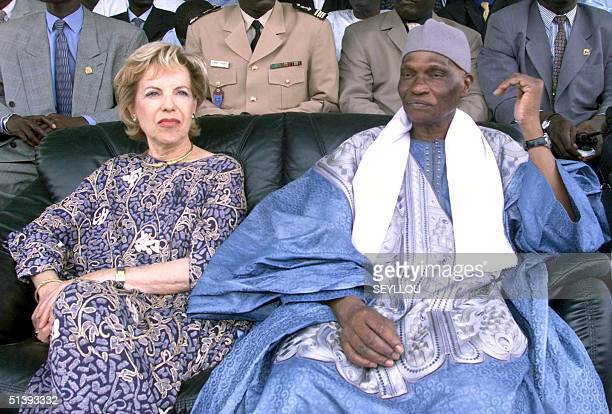 Senegalese President Abdoulaye Wade and his French wife Viviane are seen during the investiture congress of the ruling Senegalese Democratic Party...