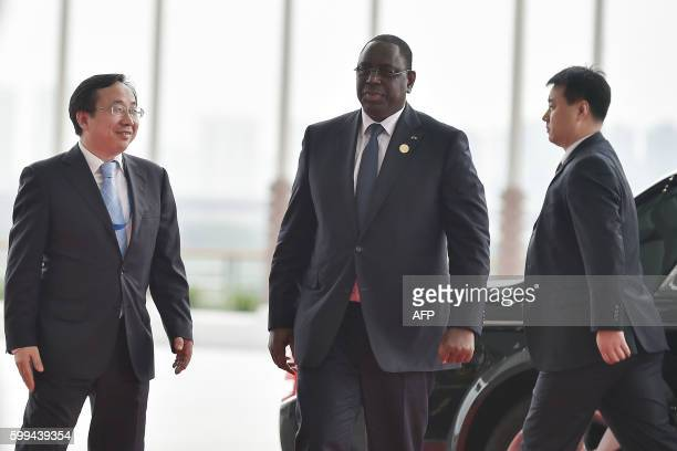 Senegalese President Macky Sall arrives at the Hangzhou Exhibition Center to participate in the G20 Summit in Hangzhou on September 4, 2016. G20...