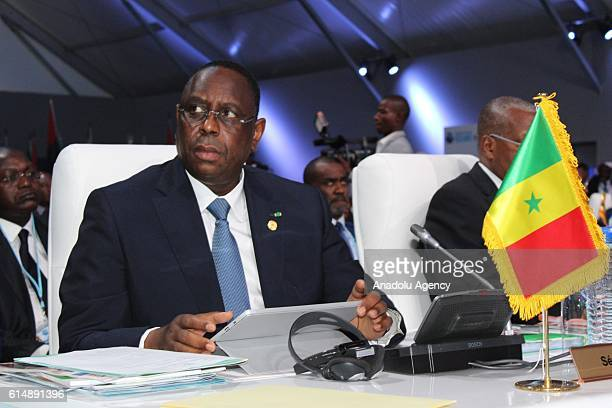 Senegalese President Macky Sall attends the African Union Extraordinary Summit on Maritime Security and Safety and Development in Africa in Lome Togo...