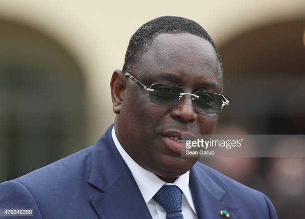 Senegalese President Macky Sall attends the Outreach program on the second day of the summit of G7 nations at Schloss Elmau on June 8 2015 near...