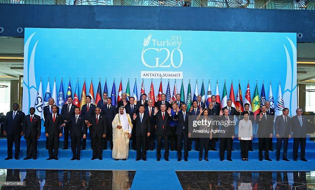 G20 Turkey Leaders Summit - Family Photo : News Photo