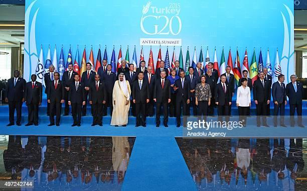 Senegalese President Macky Sall, Zimbabwe's President Robert Mugabe, Indonesian President Joko Widodo, Mexican President Enrique Pena Nieto, South...