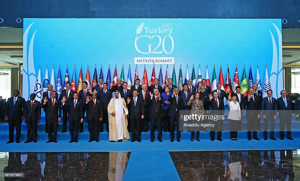 G20 Turkey Leaders Summit - Family Photo : ニュース写真