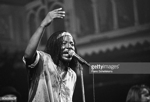 Senegalese singer Alpha Blondy performs at the Paradiso in Amsterdam Netherlands on 1st June 1992