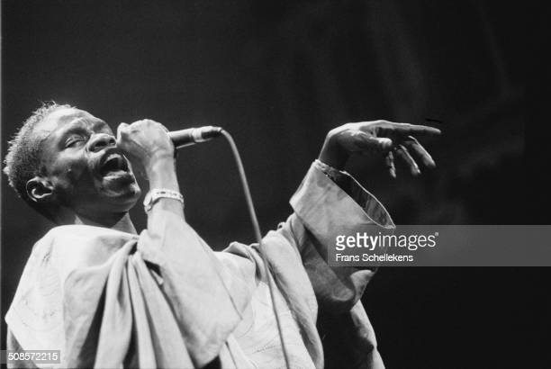 Senegalese singer Baaba Maal performs at the Concertgebouw on 23rd June 1996 in Amsterdam, Netherlands.