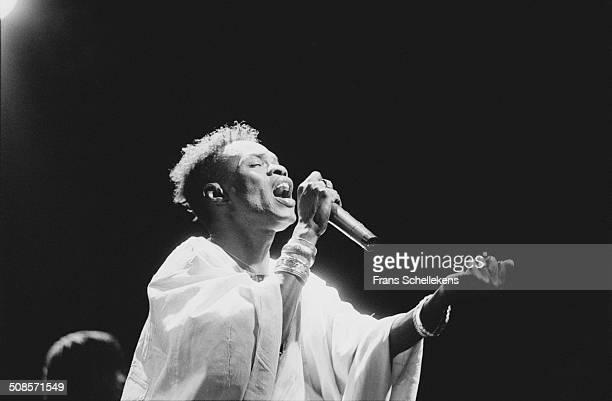 Senegalese singer Baaba Maal performs at the Melkweg on 25th June 1993 in Amsterdam, Netherlands.