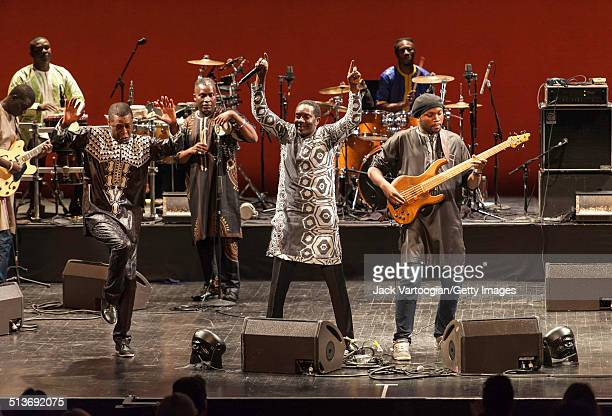 Senegalese singer Youssou N'Dour performs with his band Super Etoile de Dakar during the 2014 Next Wave Festival at the BAM Howard Gilman Opera House...