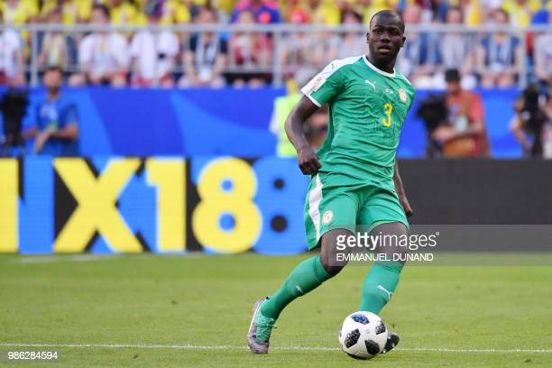 Senegal's defender Kalidou Koulibaly controls the ball during the Russia 2018 World Cup Group H football match between Senegal and Colombia at the...