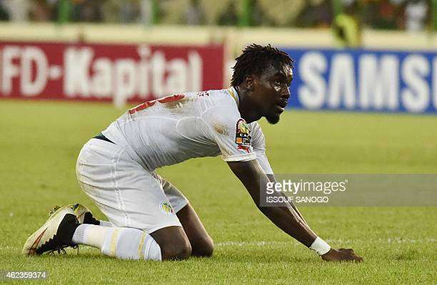 Senegal's defender Pape Souare reacts during the 2015 African Cup of Nations group C football match between Senegal and Algeria on January 27 2015 in...