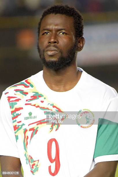 Senegal's forward Mame Biram Diouf is pictured prior to the 2019 Africa Cup of Nations qualifying football match between Senegal and Equatorial...