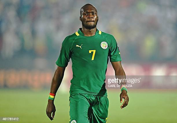 Senegal's forward Moussa Sow attends the 2015 African Cup of Nations group C football match between Ghana and Senegal in Mongomo on January 19 2015...