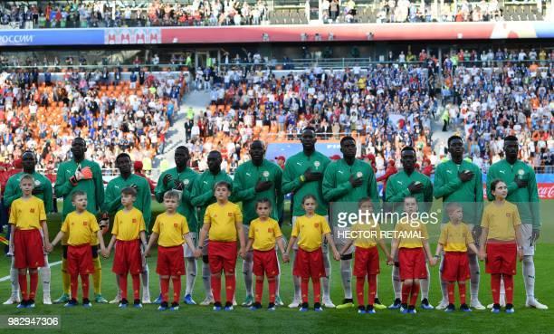 Senegal's forward Sadio Mane goalkeeper Khadim N'Diaye defender Moussa Wague midfielder Papa Alioune Ndiaye defender Youssouf Sabaly defender Kalidou...