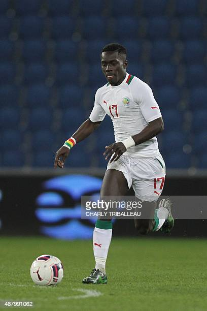 Senegal's Idrissa Gueye controls the ball during the International Friendly football match between Senegal and Ghana on March 28 2015 at the Oceane...