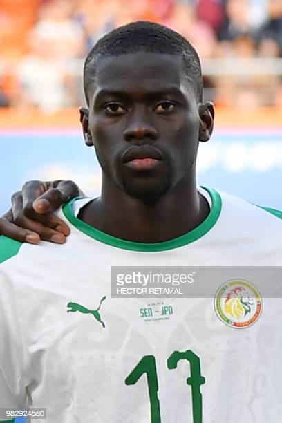 Senegal's midfielder Papa Alioune Ndiaye poses for a photo before the Russia 2018 World Cup Group H football match between Japan and Senegal at the...