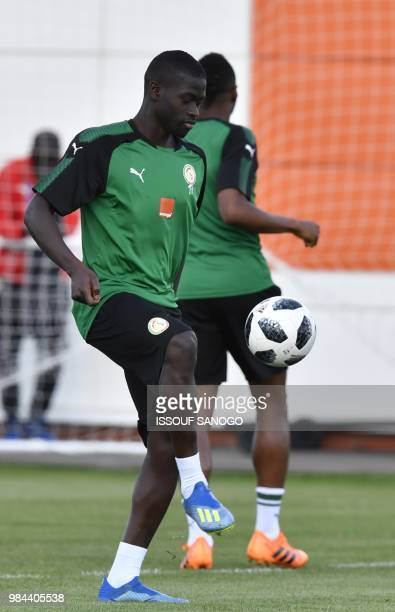 Senegal's midfielder Papa Alioune Ndiaye takes part in a training session on June 26 2018 in Kaluga ahead of the Russia 2018 World Cup fooball match...